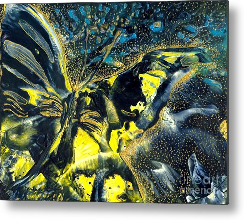 Butterfly Metal Print featuring the painting Freedom For Margot by Heather Hennick