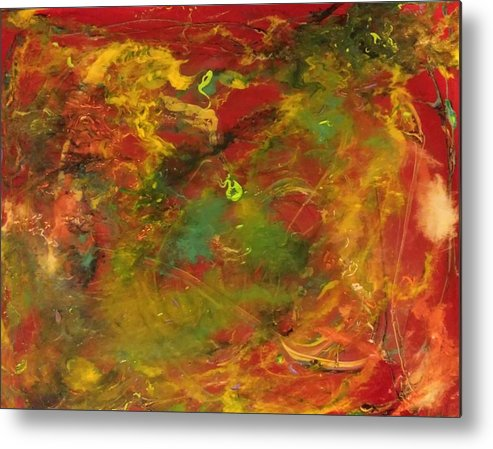 Abstract Metal Print featuring the painting Galaxy #78 by Lorena Sher