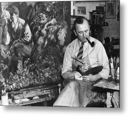 1944 Metal Print featuring the photograph George Grosz (1893-1959) by Granger