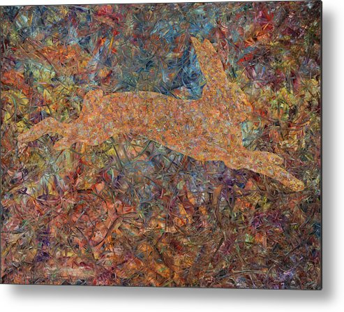 Abstract Metal Print featuring the painting Ghost Of A Rabbit by James W Johnson
