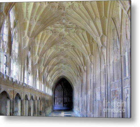 Gloucester Metal Print featuring the photograph Gloucester Cathedral Cloisters by Nigel Fletcher-Jones