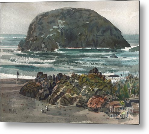 Goat Rock Metal Print featuring the painting Goat Rock by Donald Maier