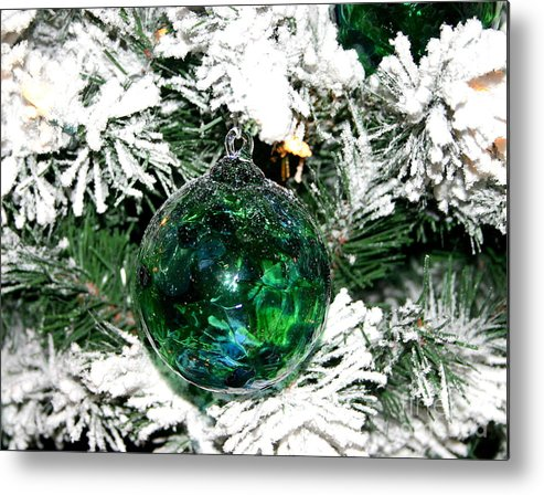 Green Metal Print featuring the photograph Gracious Green by Marie Neder