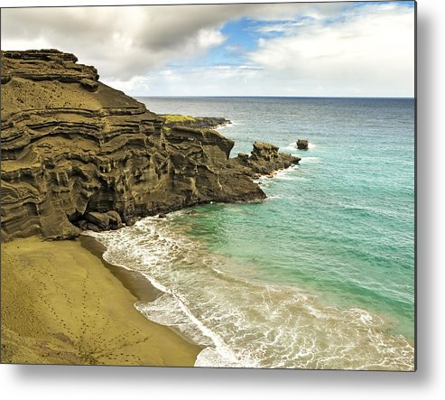 Green Sand Beach Metal Print featuring the photograph Green Sand Beach On Hawaii by Brendan Reals