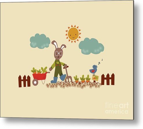 Rabbit Metal Print featuring the photograph Harvest Time by Kathrin Legg