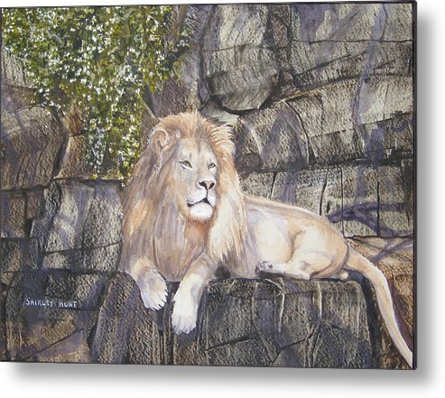 King Metal Print featuring the painting His Majesty by Shirley Braithwaite Hunt