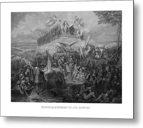 Us Presidents Metal Print featuring the drawing Historical Monument Of Our Country by War Is Hell Store