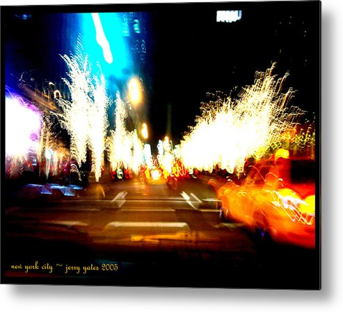 New York City Metal Print featuring the photograph Holiday Party by Gerard Yates