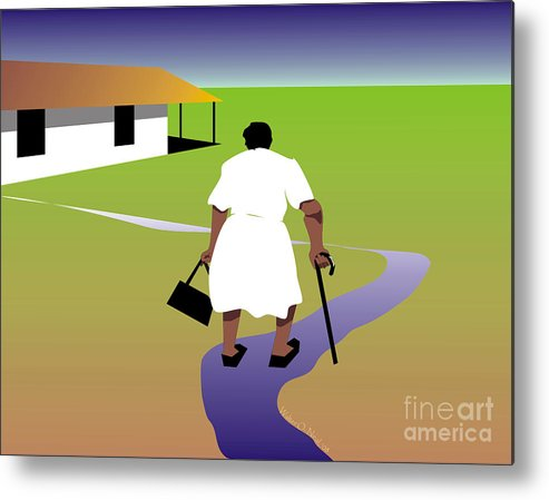 Women Metal Print featuring the digital art Homecoming by Walter Oliver Neal