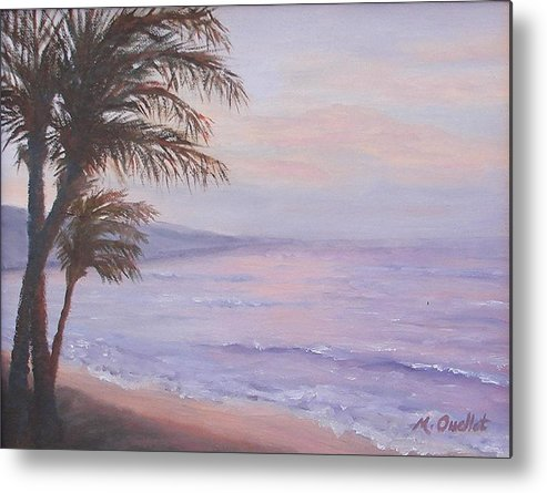 Landscape Metal Print featuring the painting Honeymoon In Maui by Maxine Ouellet