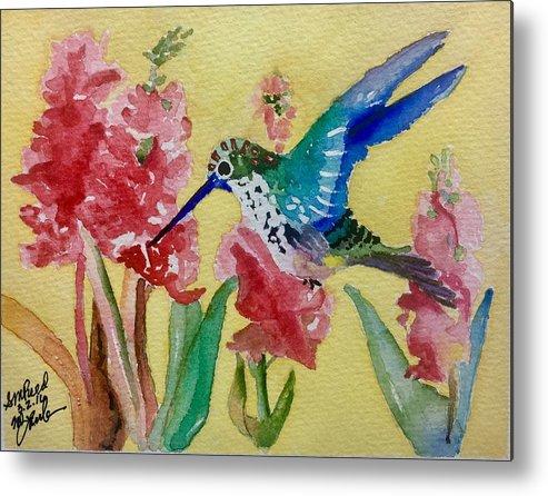 Hummingbird Metal Print featuring the painting Hummingbird II by Sharon Reed
