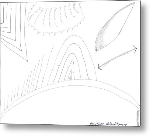 Hill Metal Print featuring the drawing In Time by Deborah Murray