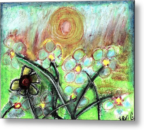 Daisy Metal Print featuring the pastel Individuality by Levi Glassrock