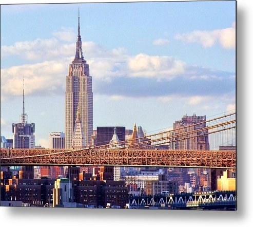 Empire State Building Metal Print featuring the photograph Inhabited Sculpture by Mitch Cat