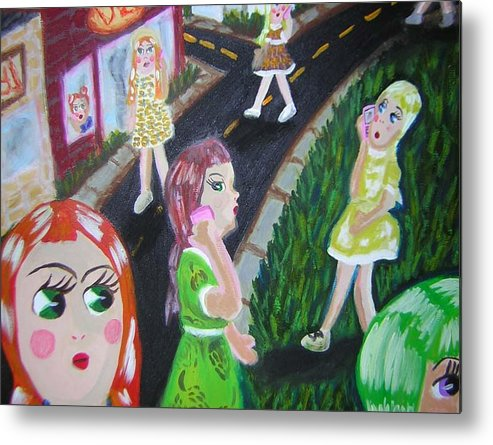 Dolls Metal Print featuring the painting Isolate Languages by Michelley QueenofQueens