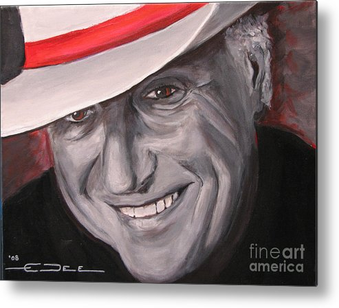 Jerry Jeff Walker Metal Print featuring the painting Jerry Jeff Walker by Eric Dee