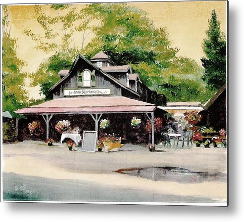 Landscape Metal Print featuring the painting Jo-anne's Market by Barry Smith