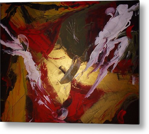Original Metal Print featuring the painting Kindred Spirits by Joey Santiago