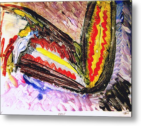 Neo Expressionism Metal Print featuring the painting Knee by John Toxey