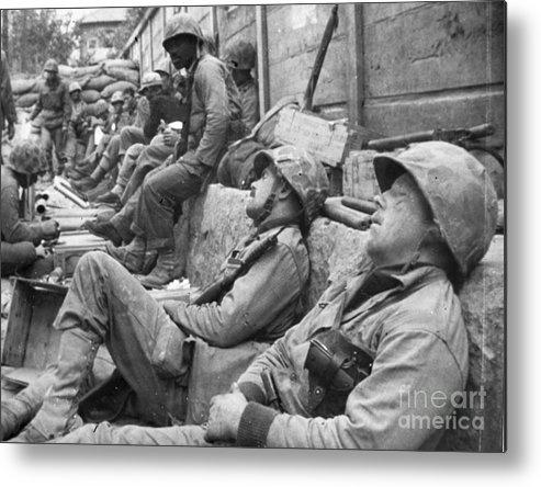1950 Metal Print featuring the photograph Korean War: U.n. Troops by Granger