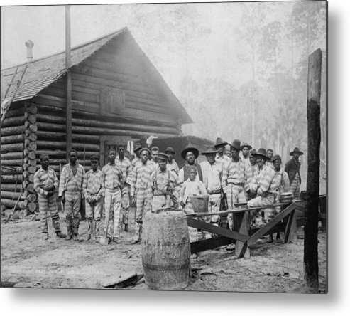 History Metal Print featuring the photograph Large Group Of African American Men by Everett