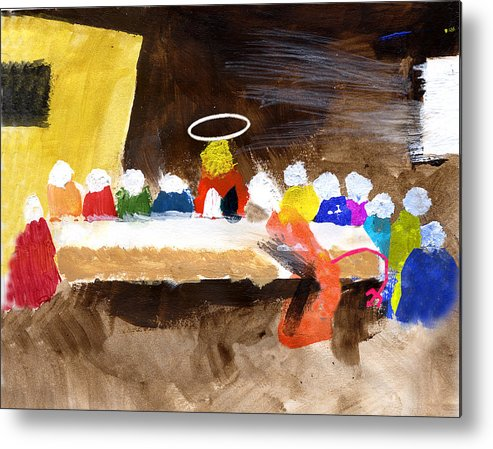 Jesus Metal Print featuring the mixed media Last Supper W-judas by Curtis J Neeley Jr