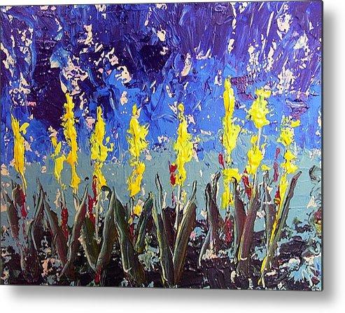 Flowers Metal Print featuring the painting Le Fleur by Paul Sandilands