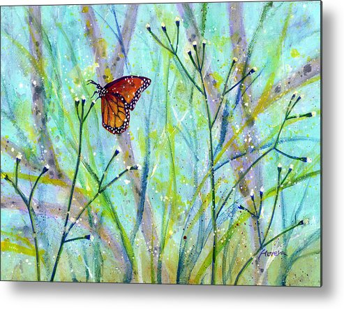 Butterfly Metal Print featuring the painting Lingering Memory 2 by Hailey E Herrera