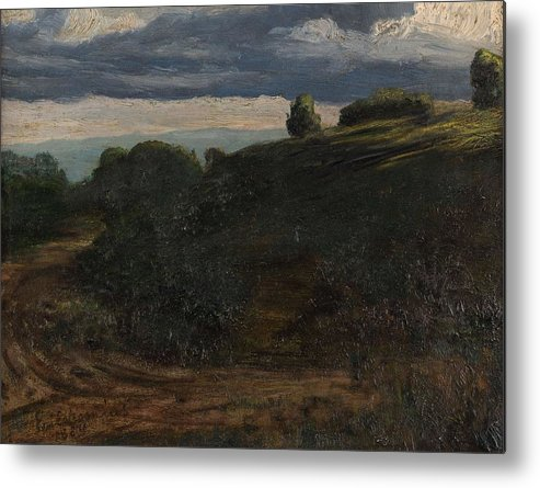 Nature Metal Print featuring the painting Louis Michel Eilshemius American 1864-1941 Summer Twilight, 1884 by Louis Michel Eilshemius
