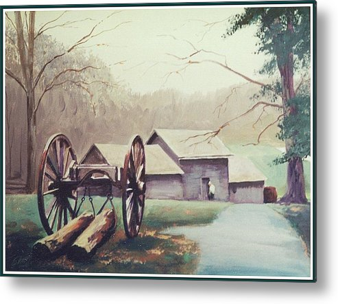 Landscape Metal Print featuring the painting Mabreys Mill by Barry Smith