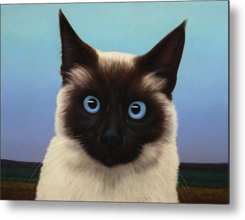 Cat Metal Print featuring the painting Machka 2001 by James W Johnson