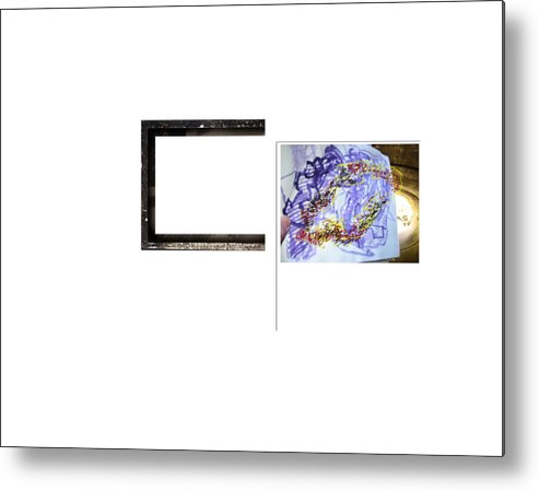Sculptural Drawing  Abstract Digital Space Metal Print featuring the digital art Magnet by Edwin VanGorder