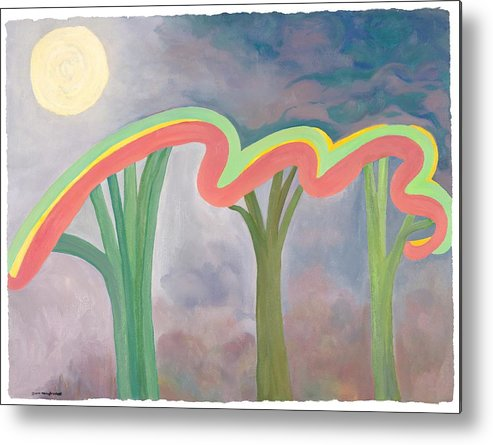 Mercy Metal Print featuring the painting Mercy Nights by Nancy Brockett