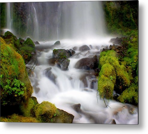 Waterfall Metal Print featuring the photograph Misty Waters by Marty Koch