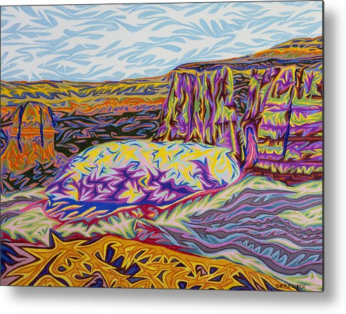 Colorado Metal Print featuring the painting Monument Canyon by Robert SORENSEN