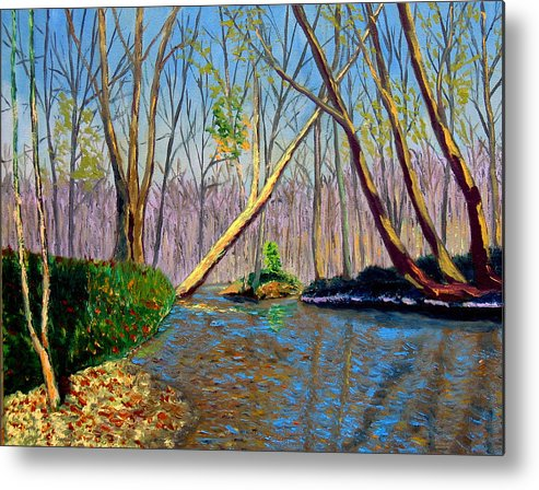 Creek Metal Print featuring the painting Mooresville November by Stan Hamilton