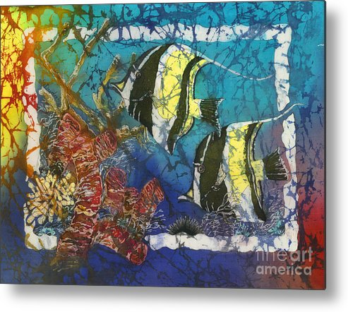 Moorish Idols Metal Print featuring the painting Moorish Idols by Sue Duda