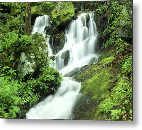 Waterfalls Metal Print featuring the photograph Mountain Falls by Marty Koch