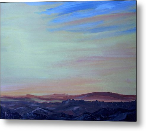 Southwest Metal Print featuring the painting My Brothers Territory by Pete Maier