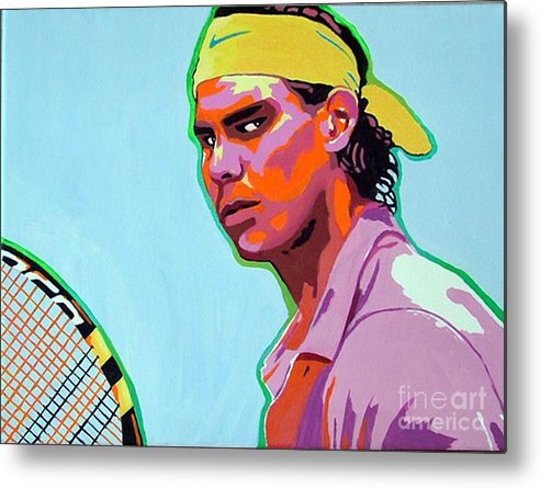 Tennis Metal Print featuring the painting Nadal by Gail Zavala