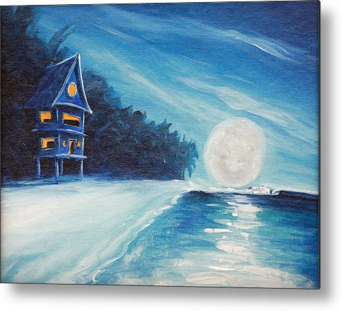 Surf Metal Print featuring the painting Night Life by Ronnie Jackson