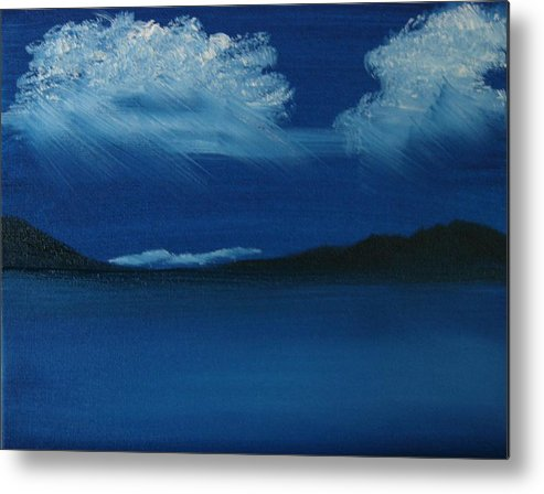 Landscape Metal Print featuring the painting Night Sky by Dottie Briggs