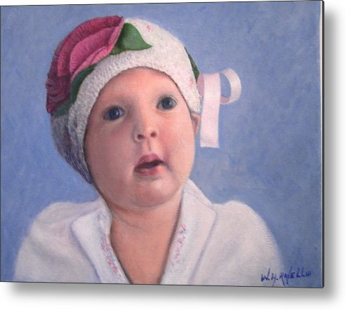 Portrait Metal Print featuring the painting Nora Rose by William H RaVell III