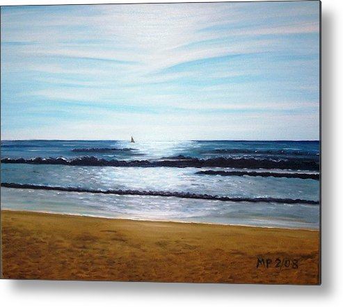 Seascape Metal Print featuring the painting Ocean And Light by Madeleine Prochazka