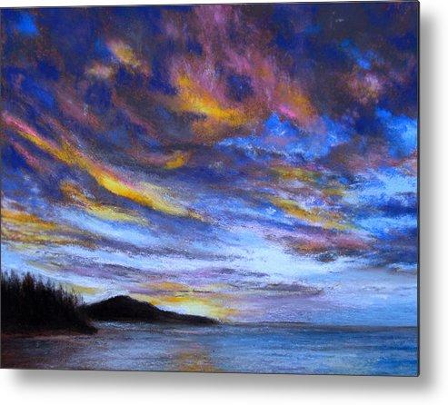 Ocean Metal Print featuring the pastel Ocean Sky by Susan Jenkins