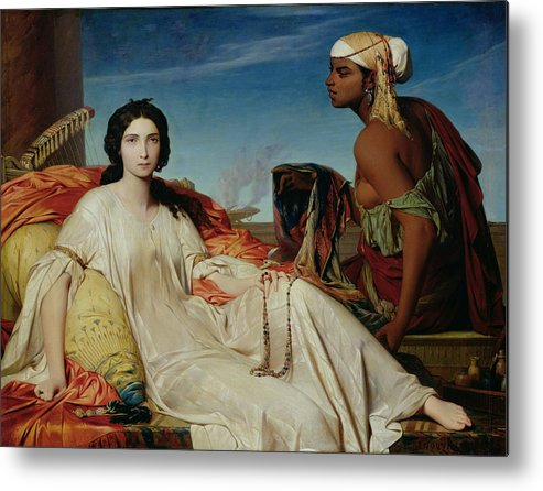 Odalisque Metal Print featuring the painting Odalisque by Francois Leon Benouville