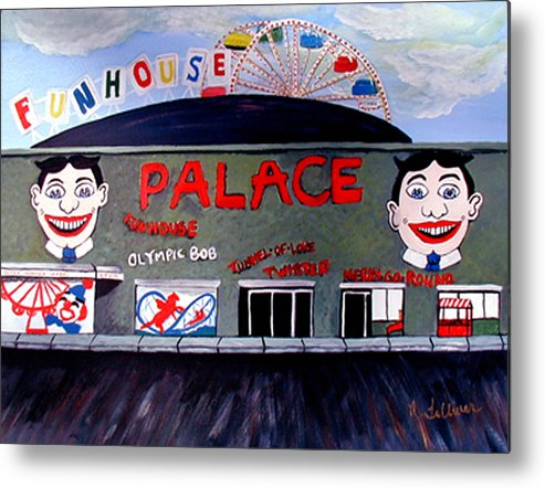 Tillie Metal Print featuring the painting Palace Amusements Asbury Park Nj by Norma Tolliver