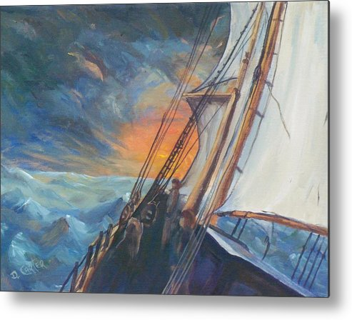 Seascape Metal Print featuring the painting Pathfinder by David Carter