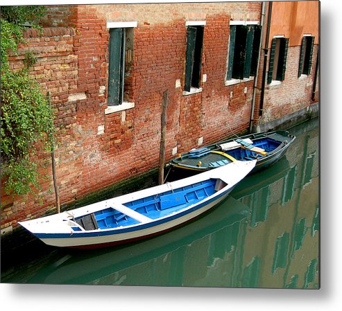 Metal Print featuring the photograph Peacefull Canal Parking by Joseph Reilly