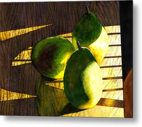 Pears Metal Print featuring the painting Pears No 3 by Catherine G McElroy